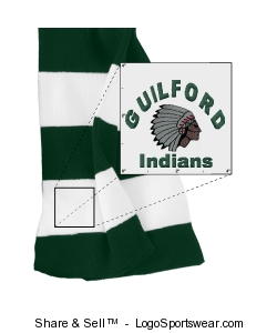 Rugby Striped Knit Scarf Design Zoom